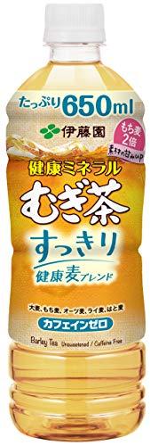 伊藤園 健康ミネラルむぎ茶 すっきり健康麦ブレンド 650ml ×24本 デカフェ・ノンカフェイン