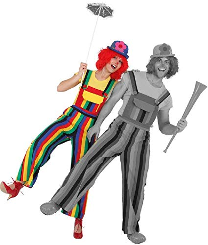 Fancy Me Damen Crazy Bunte Regenbogen Clown Karneval Pride Feier Eventparade Weitbein-Kostüm Kostüm Outfit Latzhose