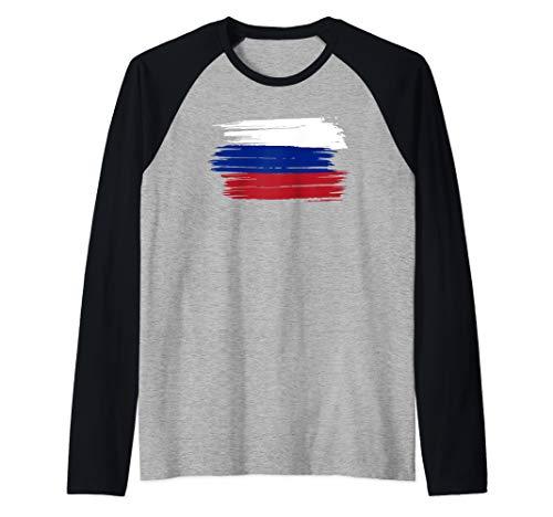 Russland Russisch Fahne Flagge Geschenk Raglan