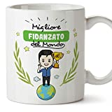 MUGFFINS Tazza Fidanzato -Famiglia Mondo -Idee Regali Divertenti e Originali -Tazze di Caffè eTè -