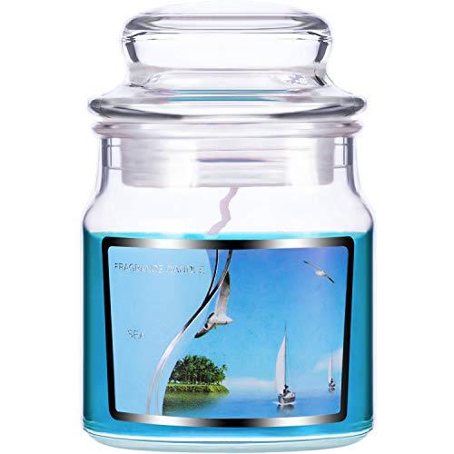 Velas Perfumadas de Tarro Pequeño para Decoración de Hogar de Hora de Té Fiesta Boda SPA Regalos (Mar Azul)