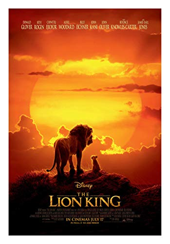 Fullfillment Posters The Lion King 2019 Movie Poster Glossy Print Photo Wall Art Donald Glover, Beyoncé, Seth Rogen Sizes 8x10 11x17 16x20 22x28 24x36 27x40#1 (24x36 inches)