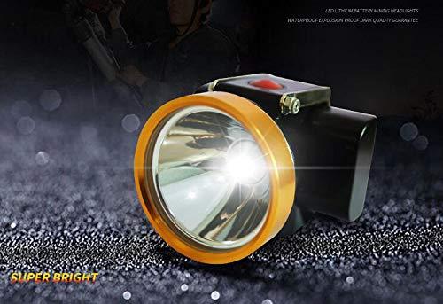 Linterna frontal de alta luminosidad, minero de minero, 15000 lux 4000 mAh