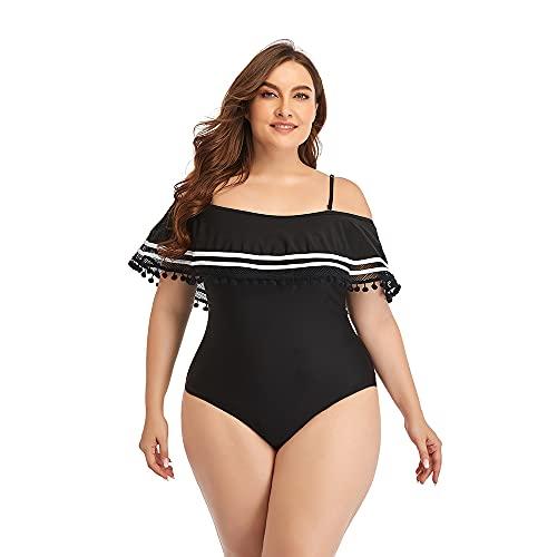 LCUYNUI Damen Badeanzug in Übergröße in Übergröße Eleganter Badeanzug mit hoher Taille und offenem Rücken (46, Numeric_46)