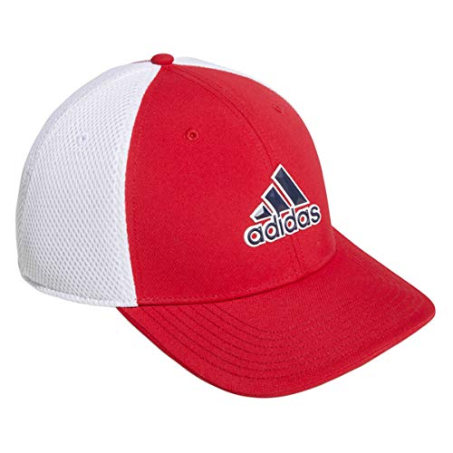 adidas A- Stretch Tour Hat Gorra de béisbol, Rojo (Rojo/Blanco Du6892), One...