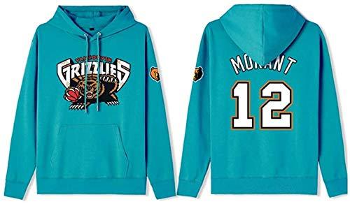 Sudadera de baloncesto con capucha para hombre, Ja Morant 12# de la NBA, sudadera de manga larga, unisex, regalo de cumpleaños S-3XL, unisex (color: A, talla: 3XL)