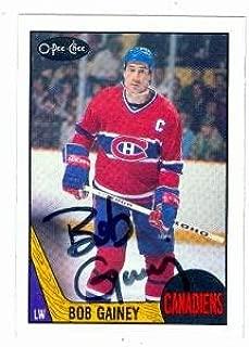 Autograph Warehouse 58629 Bob Gainey Autographed Hockey Card 1987 O-Pee-Chee No .228 Montreal Canadiens 67