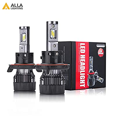 Alla Lighting 2pcs Super Bright LED Light Bulbs replacement for 2009~2014 Ford F150/2011~16 F250 F350 F450 F550/2011~17 F-250 F-350 F-450 F-550 Super Duty (H13 Hi/Lo Beam , White)