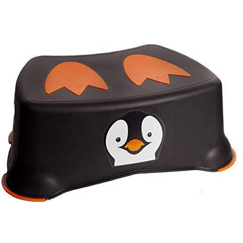 My Little Step - Pingüino Taburete infantil antideslizante - paso de aprendizaje para niños, Ideal para que los más pequeños lleguen al inodoro y al lavabo.