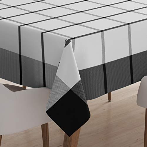 Encasa Homes Tovaglia da Pranzo per 4 a 6 posti Grande Tavolo da Pranzo Centrale - 142 x 240 cm,...
