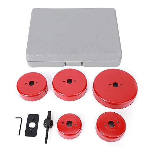 Broca, cortador de sierra de agujero rojo de alto rendimiento, acero de alta eficiencia, pulido fino, tablero de densidad funcional para apertura de orificios, tablero de aluminio, tablero
