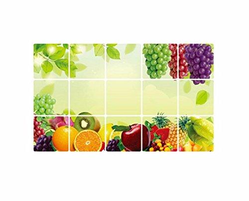 Wand Tapeten,LUCKDE Wandaufkleber Küche Obst Wandtattoo Wandaufkleber 3D Wandtattoo Foto Vliestapete (A)