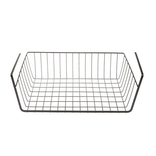 Organizzatore Cesto Rack per Uso Domestico Sotto Organizzatore Supporto per Armadio Tavolo - Nero, come descritto