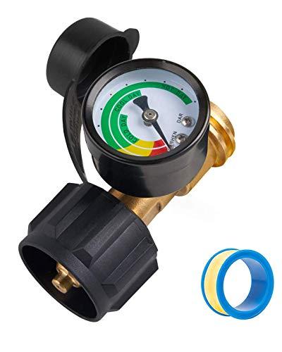 SHINESTAR Propane Tank Gauge for 5-40lb LP Tank, Propane Tank Gauge Level Indicator for RV, BBQ Gas Grill, Heater, Turkey Fryer