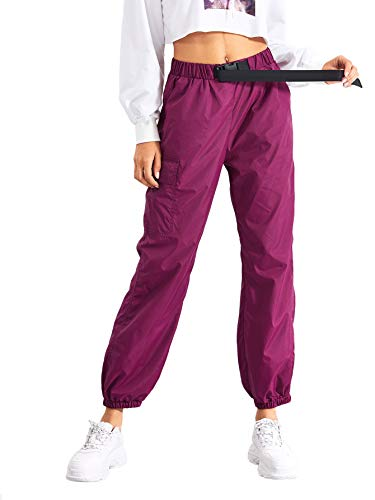 SOLY HUX Pantalones Deportivos con Cintura Ajustable Baile Hip Hop Moda Ocio Deportes al Aire Libre Mujer Pantalones Largos