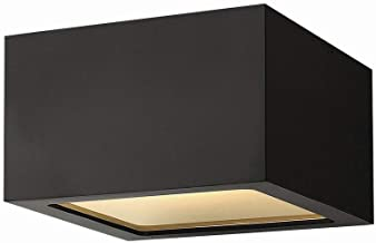 Hinkley 1765SK Contemporary Modern One Light Outdoor Flush Mount from Kube collection in Blackfinish,