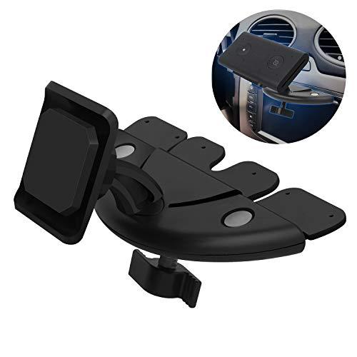 YiePhiot Magnetische CD-Schlitz-Autohalterung kompatibel mit Echo Auto, Autolüftungsschlitz-Halterung, 360 Grad drehbar, Halterung zum Aufkleben