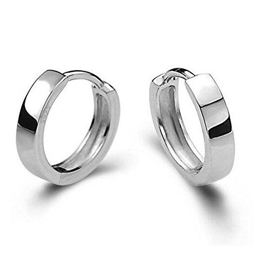 Wicemoon - Pendientes de tuerca para hombre y mujer, diseño de círculo suave