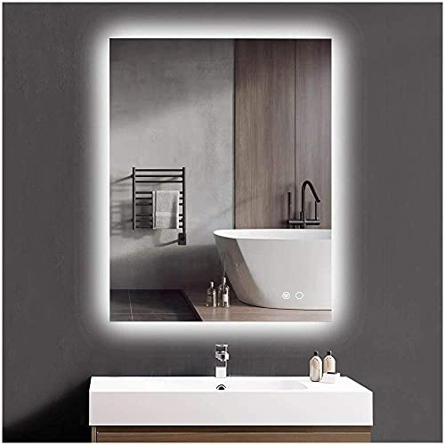 Keonjinn 36 x 28 Inch Bathroom LED Mirror Backlit Wall Mounted Makeup Mirror Anti-Fog Vanity Mirror...