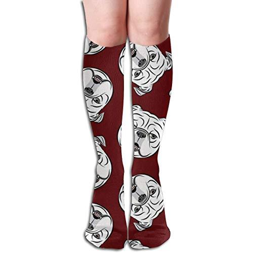 xinfub Unisex Socken mit englischen Bulldoggen-Motiv, bequem, bequem, ideal für Laufen, Sportsport, Flug, Reisen, bequem, 6628