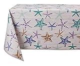 Vinylla Starfish - Mantel de vinilo fácil de limpiar, 140 x 180 cm