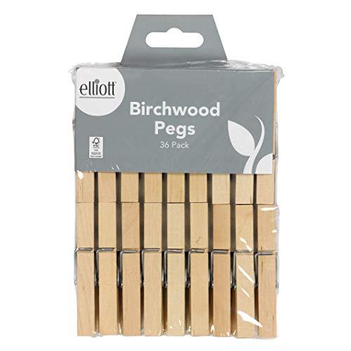 Elliott 10F17898 Pinces à linge en bois dur
