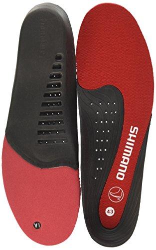 SHIMANO Adultos Comodidad Plantillas Rojo Rojo Talla:48 EU