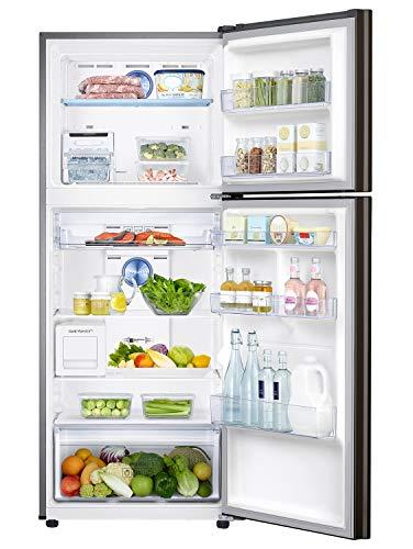 Samsung 386 L 3 Star Inverter Frost-Free Double Door Refrigerator (RT39T5C3EDX/TL, Luxe Brown) 3
