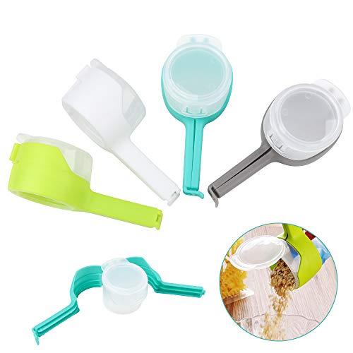 Zwish - Juego de 4 clips de sellado para bolsas de alimentos y aperitivos, ideal para almacenar alimentos y organizar utensilios de cocina para el hogar