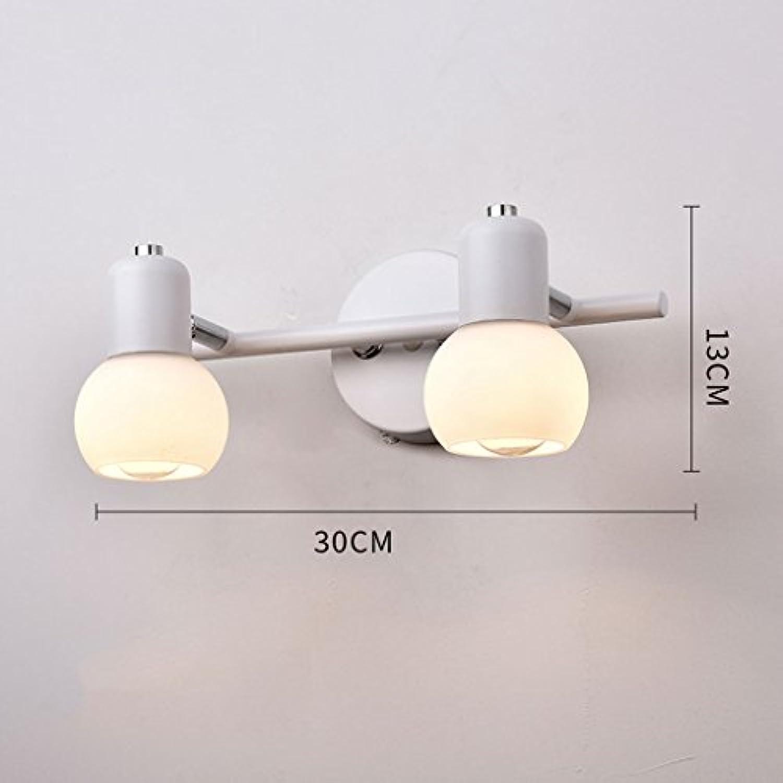 LZY Wandlampe- Schlafzimmer Weiß-D30cmH13cm) (Farbe Lampe ...