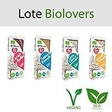 Lote 4 turrones Biolovers El Abuelo 4x 200grs Ecológicos y Veganos