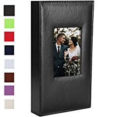 🌹Premium Quality: PU leather cover with a deluxe raised rounded book style spine, which is durable and sturdy to last for years, your pictures and memories will be preserved in our special photo album organiser 🌹Exquisite cover window design:The cove...