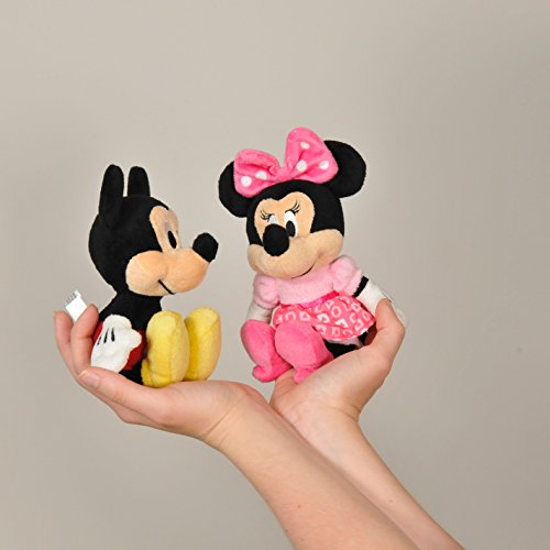 KIDS PREFERRED Disney Baby Mickey Mouse Stuffed Animal Plush Toy Mini Jingler, 6.5 inches