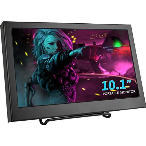Kenowa 10,1 Zoll Tragbarer Monitor Full HD 1366 * 768 Auflösung Bildschirm Monitor mit HDMI, VGA, Lautsprecher, DC12V-Stromanschluss kompatibel mit CCTV Kamera, PS3 PS4 Xbox360, PC