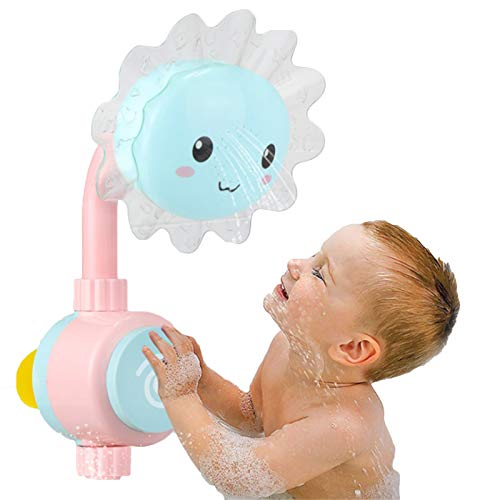ADYD Bebé Girasol Baño Juguete Bañera Duchas Baño Caños Chupetes Plegable Grifo de Spray Jugar Baño Juguetes de Agua