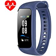BuTure Fitness Tracker, Pedometer for Walking, Heart Rate Monitor, Fitness Tracker Watch IP67, Sleep Monitor for Exercising and All Day Wear Compatible with iPhone & Android (Navy Blue)