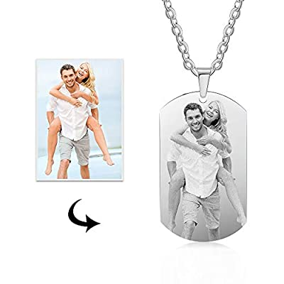Kaululu Personalzied Gifts for Women Men Picture Custom Valentines Couple Jewelry Pendant Gifts for Teenage Girls Birthday Christmas Mom Daughter Necklaces