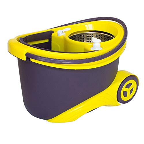 Check Out This QYLSH Magic 360 ° Rotation of The Floor Mop Bucket Suits, Wet and Dry/Microfiber wit...