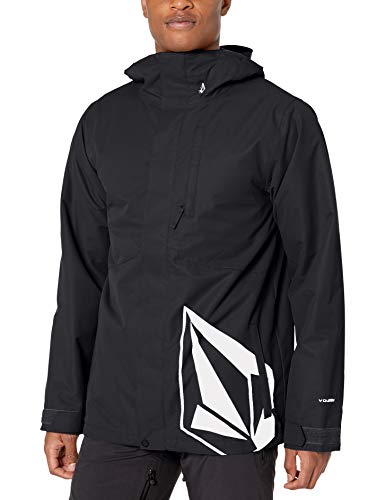 Volcom Men's 17 Forty Insulated Snow Jacket, black, Extra Large