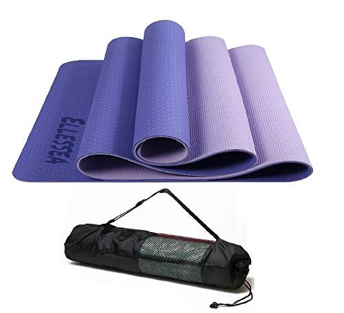 ELLESSEA - Alfombra de yoga, color morado y morado