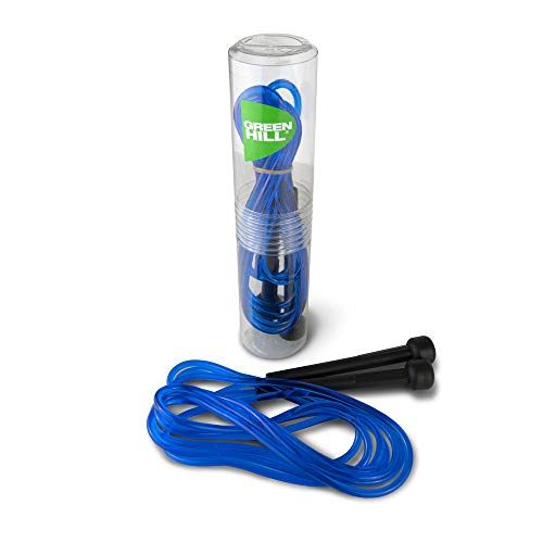 Green Hill ASA024, Corda da Salto Jump Rope Corda per Saltare Cavo PVC Boxe Pugilato Fitness, Blu, Regolabile