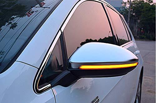 MAX Carbon Chrom Spiegel Kappen Gehäuse Abdeckungen Matt Alu Look für Golf 7 MK7 Golf VII GTI GTD R GTE Golf Plus