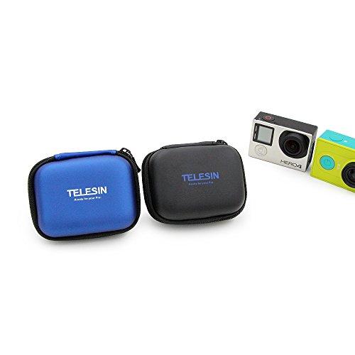 Custodia Telesin in pelle sintetica con compartimento per batteria, adatta per GoPro Hero 6/5/4/3, SJCAM Series Xiaomi Yi, Xiaomi YI24K/4K +, Polaroid Cube/Cube+.