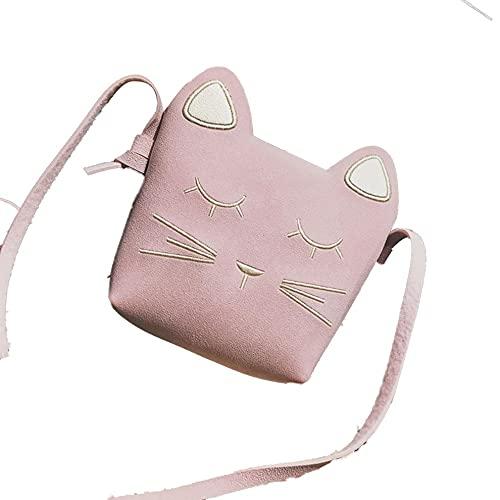 Tree-es-Life 6172# Cute Girl Mini Cat Slipping Bag Mochilas Escolares Bolso de Mano de Playa Casual Bolso de Hombro de Gran Capacidad Rosa