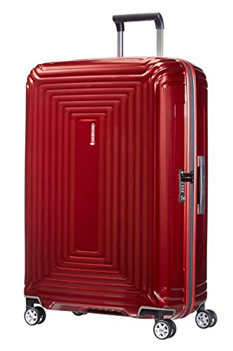 Samsonite Neopulse Spinner L Valigia, 75 cm, 94 L, Rosso (Metallic Red)