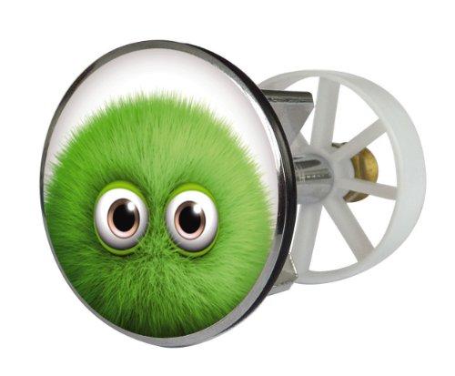 Waschbeckenstöpsel Design Monster Bobby | Abfluss-Stopfen aus Metall | Excenterstopfen | Abflussstöpsel | 38 – 40 mm | Stöpsel