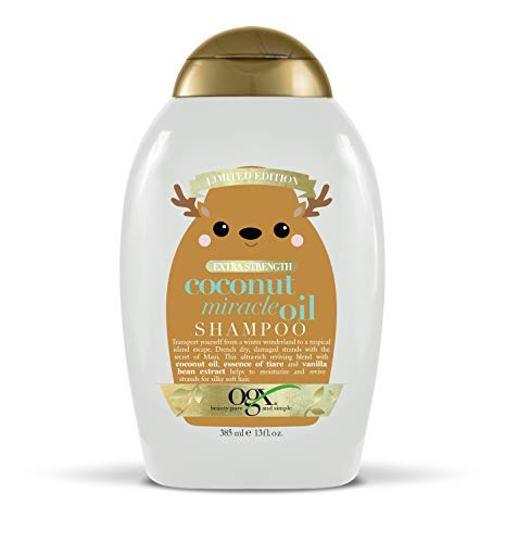 OGX Holiday 2019 limited edition coconut miracle oil shampoo, 13 Ounce