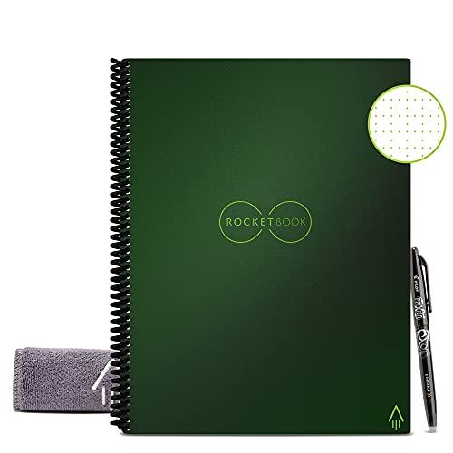 Rocketbook Cuaderno Digital Inteligente Core Diario Reutilizable - Tamaño Letter A4 Verde