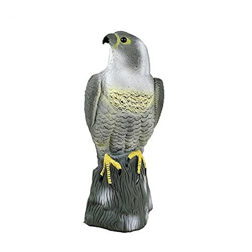 Artificial Falcon Decoy to Scare Birds Away Scarecrow Bird Repeller to Keep Control Squirrel Rabbits Away Garden