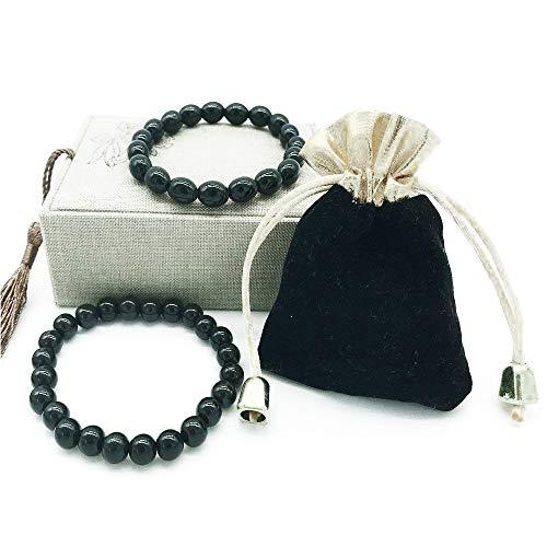 Schwarzes Turmalin Kristall Armband für Frauen und Männer